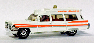 Matchbox Cadillac Ambulance a 1963 Cadillac Ambulance