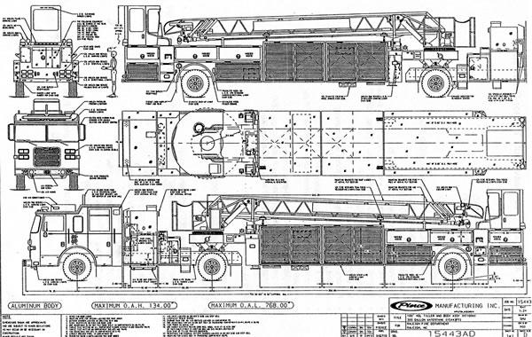 Raleigh Fire Department Virtual Museum Tiller Drawings 2004